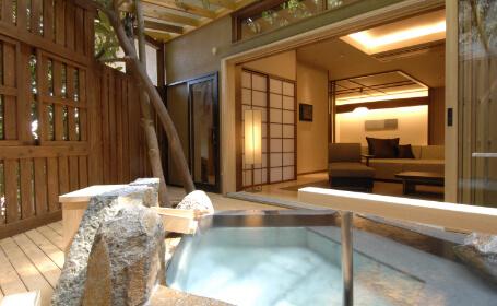露天風呂温泉付きのお部屋