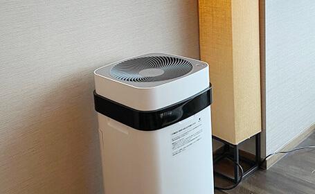全客室およびロビーに空気清浄機を設置