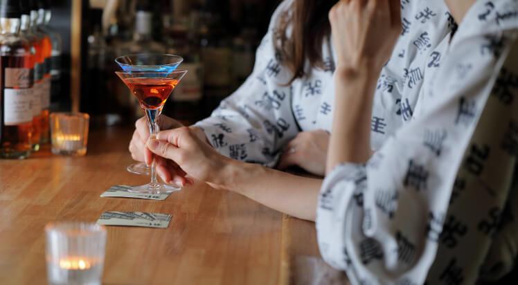 個室料亭やBARで乾杯